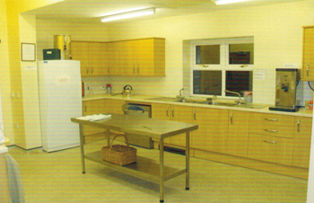 Kitchen of Dolfor Community Hall